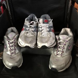 2 Pairs Of Nike Air Zooms Running Shoes Sz 9